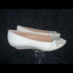 Circa Joan & David Patent Leather Peep Toe Wedge